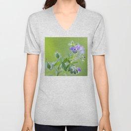 Purple wildflowers Unisex V-Neck