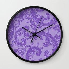 Retro Chic Swirl Purple Wall Clock