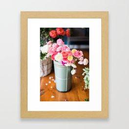 Pail of Flowers Framed Art Print