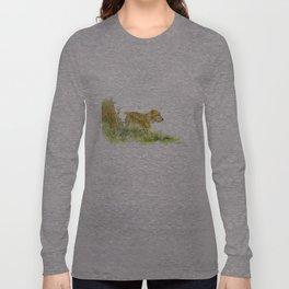 Dog Strolling Long Sleeve T-shirt