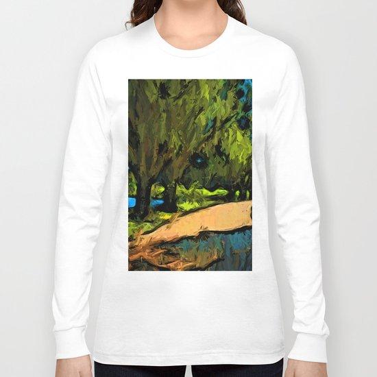 Trees along an Apricot Path Long Sleeve T-shirt