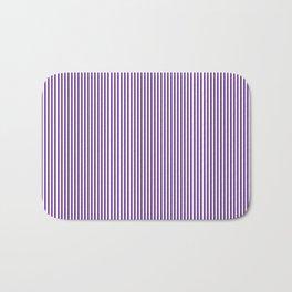 Purple Pinstripes Bath Mat