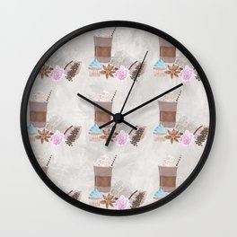 Coffee Neck Gator Fancy and Cupcakes Coffee Wall Clock