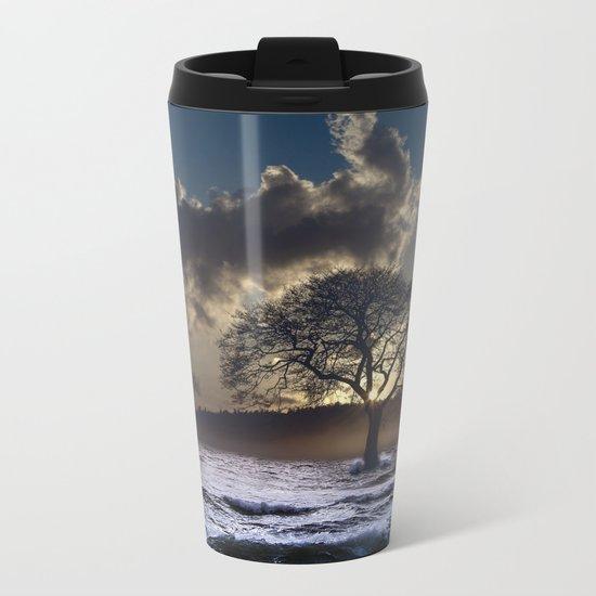 Light Shines Through Metal Travel Mug