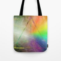 prism Tote Bags featuring Prism by Randomleafy