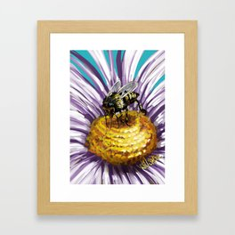 Wasp on flower 3 Framed Art Print