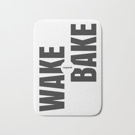 Wake Bake Repeat Bath Mat