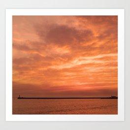 wonderful sunset Art Print