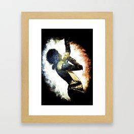 MJ in the Spotlight.  Framed Art Print