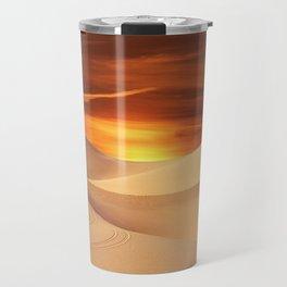 The Sunset On Desert Travel Mug