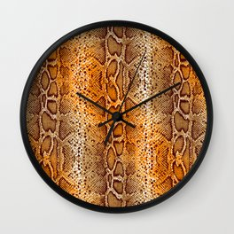 snake skin with bright ombre Wall Clock