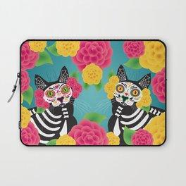 Gatos Dia de los Muertos Laptop Sleeve