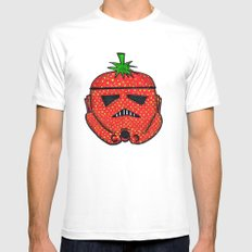 Strawberry Stormptrooper White Mens Fitted Tee MEDIUM