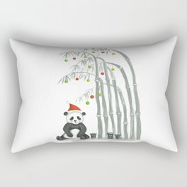 Christmas Panda Rectangular Pillow
