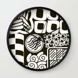 Jubako No2 Monochrome Wall Clock