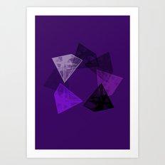 Crystal Round II Art Print