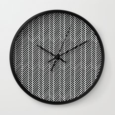 Herringbone Black Inverse Wall Clock