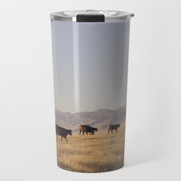 Western Cattle Art Travel Mug
