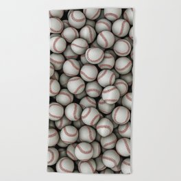 Baseballs Beach Towel