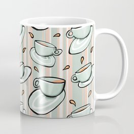 Cups Medley Green Stripes Coffee Mug