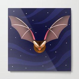 Barbastelle Bat Metal Print