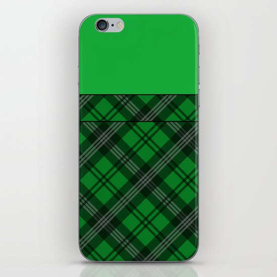 Scottish Plaid (Tartan) - Green iPhone & iPod Skin