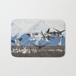 Scattering Geese Bath Mat