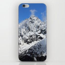Mountain with snow iPhone Skin