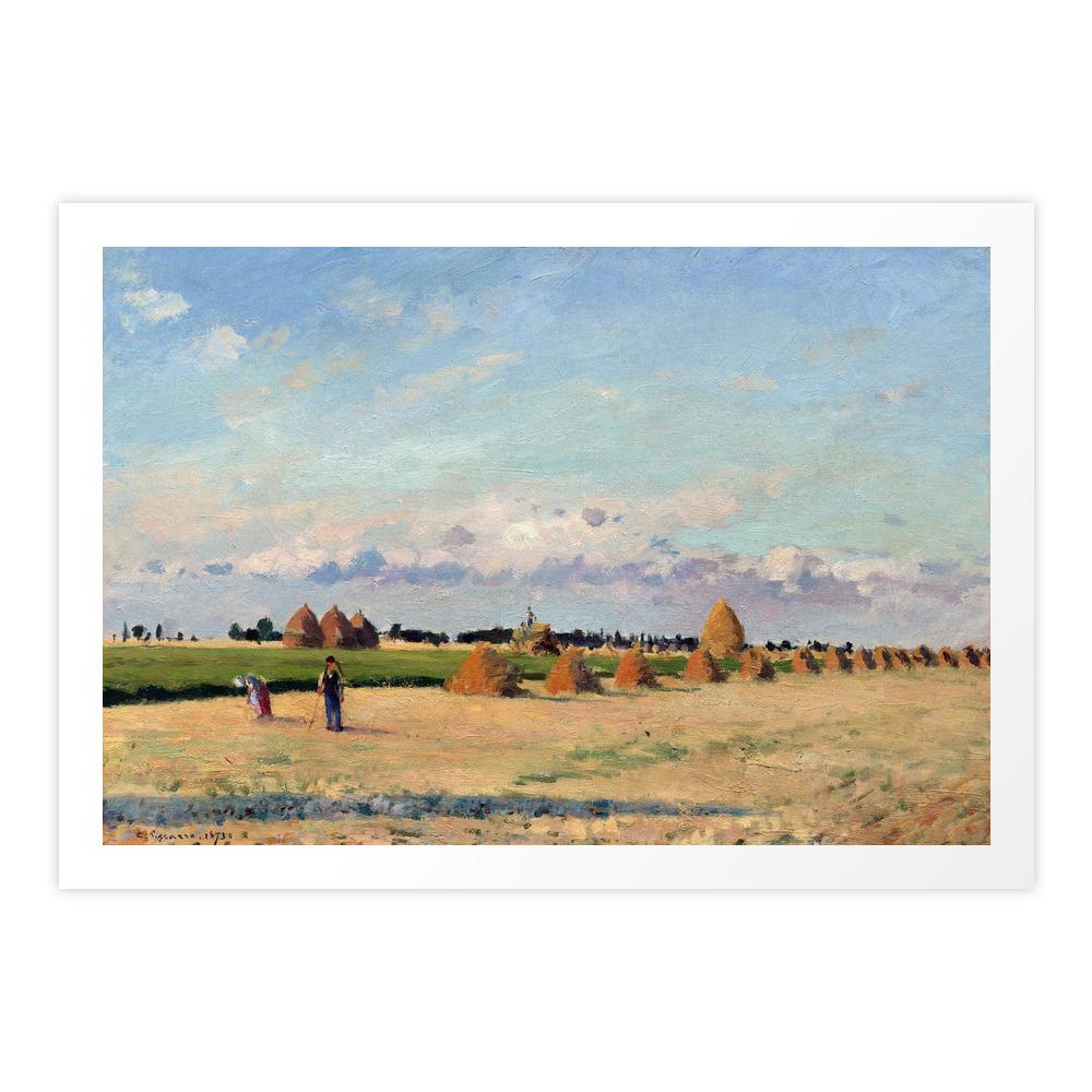 Camille Pissarro Landscape, Ile-de-France Art Print by pdpress