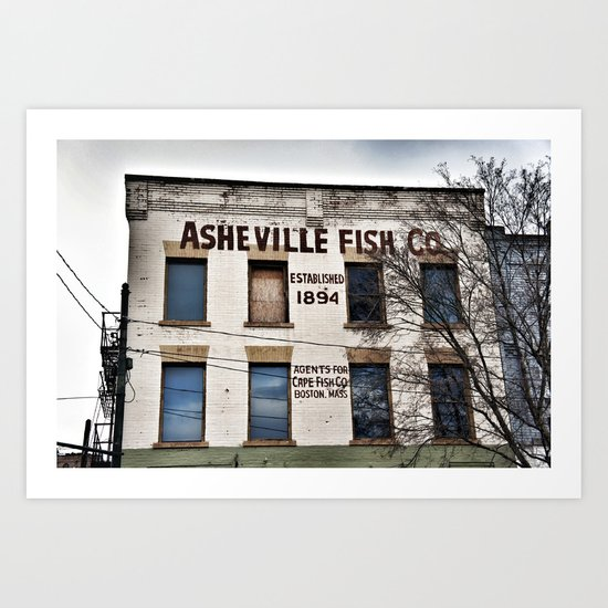 Asheville Fish Co. Art Print