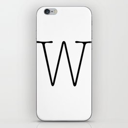 Letter W Typewriting iPhone Skin