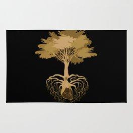 Heart Tree - Orange Rug