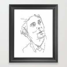 Matthew Bellamy WordsPortrait Framed Art Print