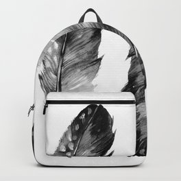Three Feathers Black And White II Backpack