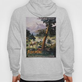Auvergne, French Travel Poster Hoody