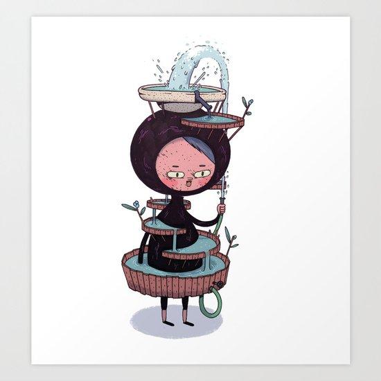 Bath Suit Art Print
