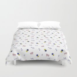 Goats and Pineapples Duvet Cover