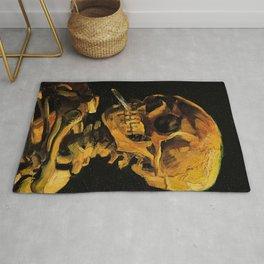 Van Gogh, Skull of a Skeleton with Burning Cigarette  – Van Gogh,Vincent Van Gogh,impressionist,post Rug