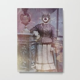 Retro Kitty Metal Print