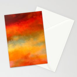 Abstract Sunset Digital Painting Stationery Cards