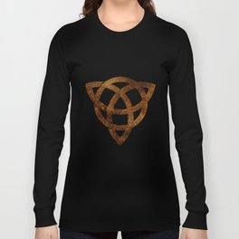Celtic knot on old paper Long Sleeve T-shirt