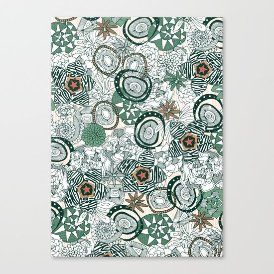 succulents limited Canvas Print