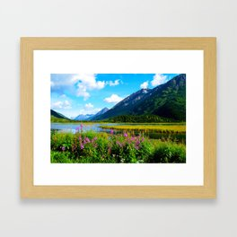 God's Country - Summer in Alaska Framed Art Print