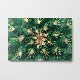 Fractal Cactus Metal Print