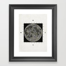 Moon Scale Framed Art Print