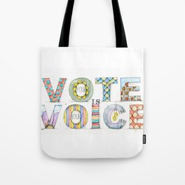 Your Vote is Your Voice Tote Bag