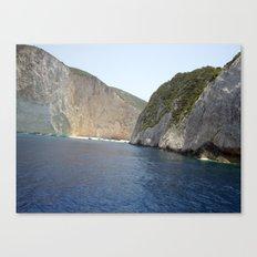 Secret Beach, Zante  Canvas Print