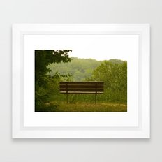 Save a seat for me Framed Art Print