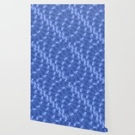 Blue and White Waves in a Pool; Fluid Abstract 42 Wallpaper