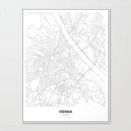 Vienna, Austria Minimalist Map Canvas Print